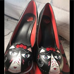 Day of the dead/ pin up girl pumps